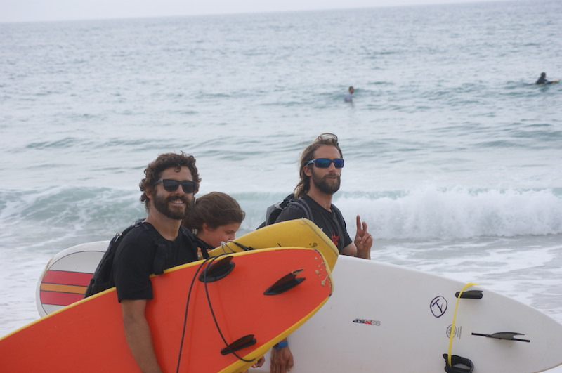 walking for surfing