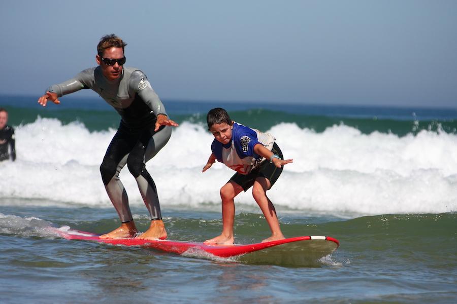 surf tandem adult kids