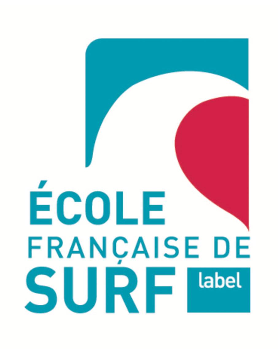 logo label ecole de surf