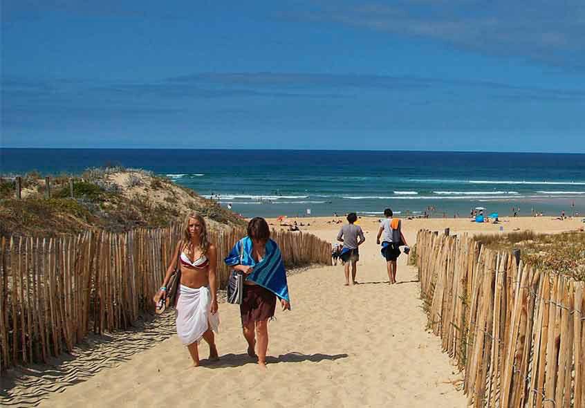 walking people beach