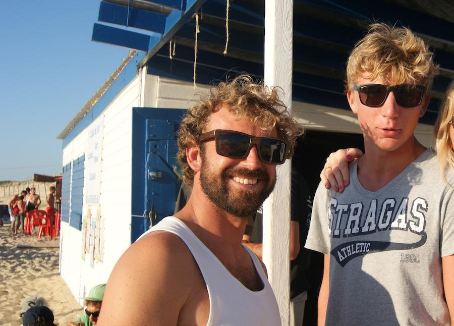 l equipe de l ecole de surf