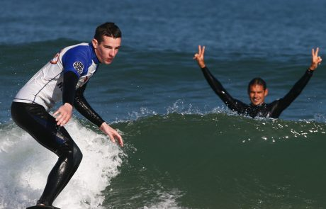 perfect moment of surfing