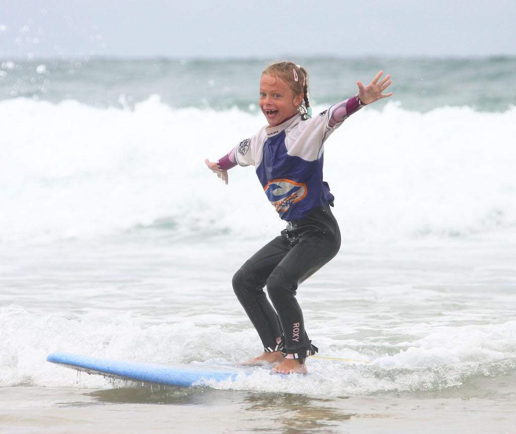 first surf big smile