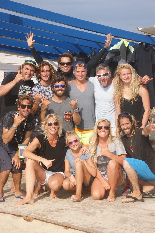 happy crew surfer