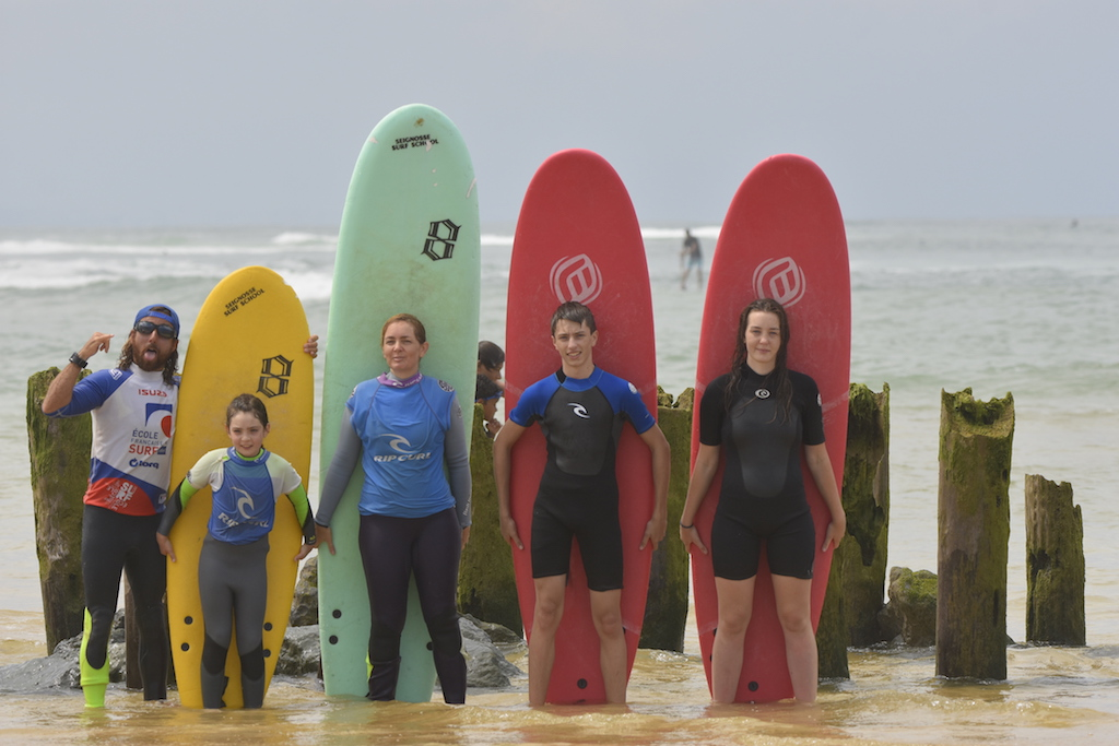 group surf picture beach