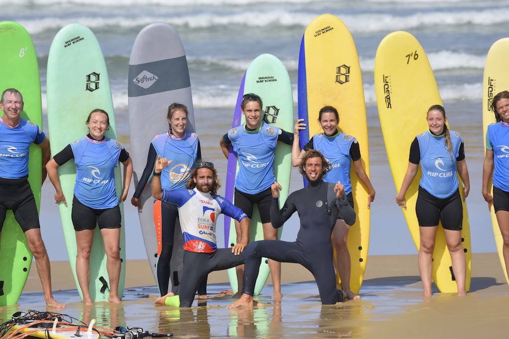 group cours surf